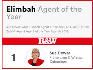 Sue Dewar - Elimbah Agent of the Year 2018